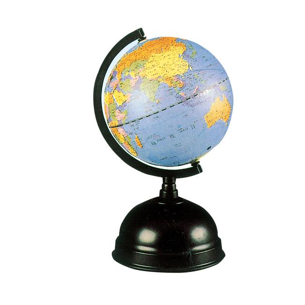 5.5吋地球儀塑膠座(錢筒)