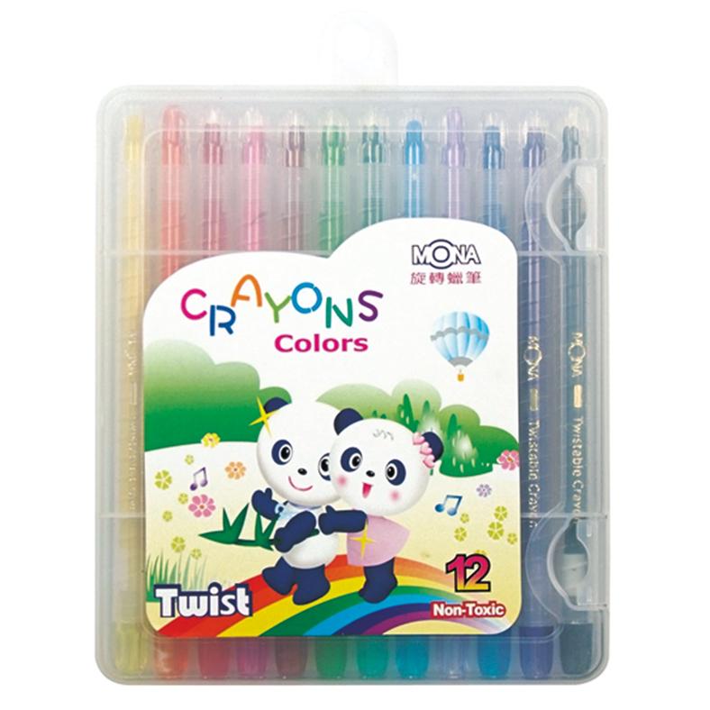12色旋轉蠟筆